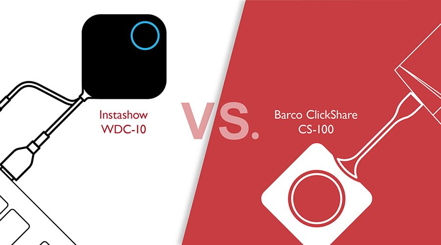 What is the difference between Barco ClickShare CS-100 and InstaShow WDC-10?