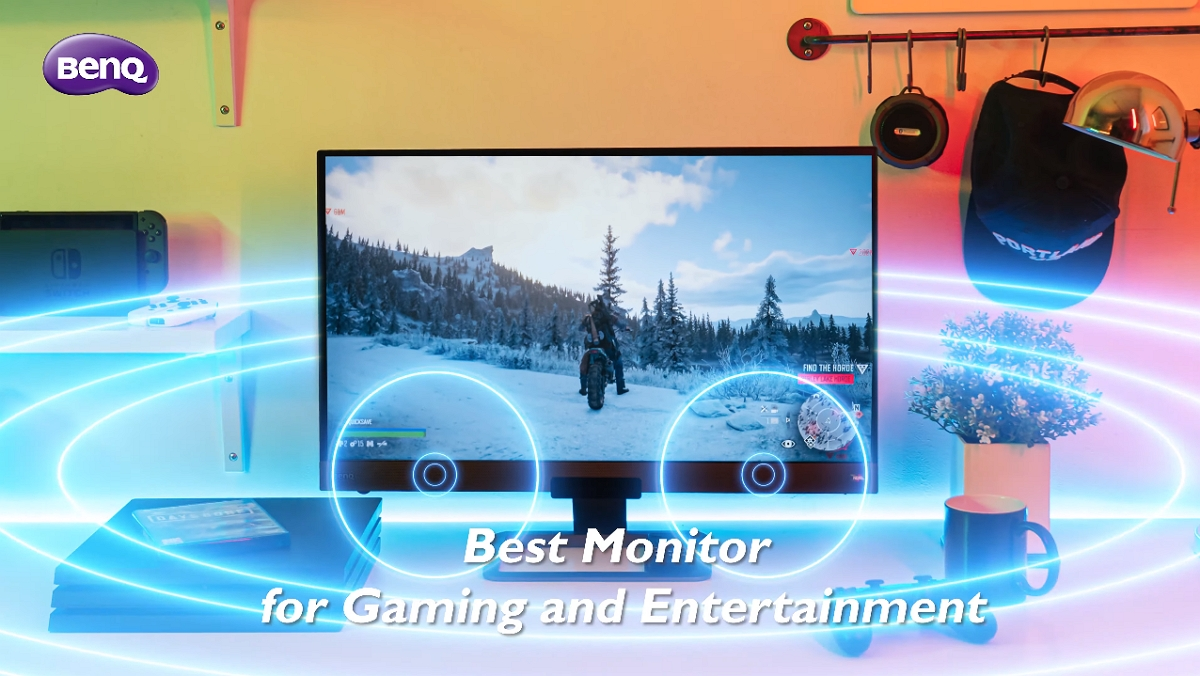 BenQ EW3280U 4k gaming monitor is built-in with 2.1 channel speakers, which intensifies your immersion when you enjoy your entertainment time.