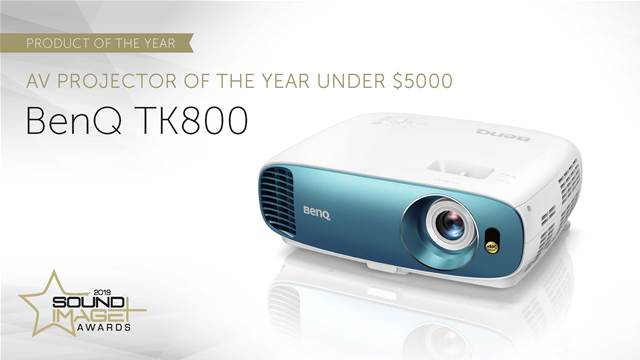 Best AV Projector under $5000 award winner BenQ TK800