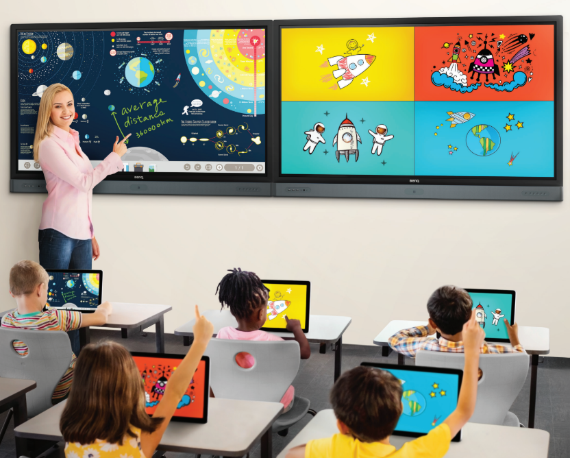 BenQ's interactive whiteboards help to realize a truly digital classroom.