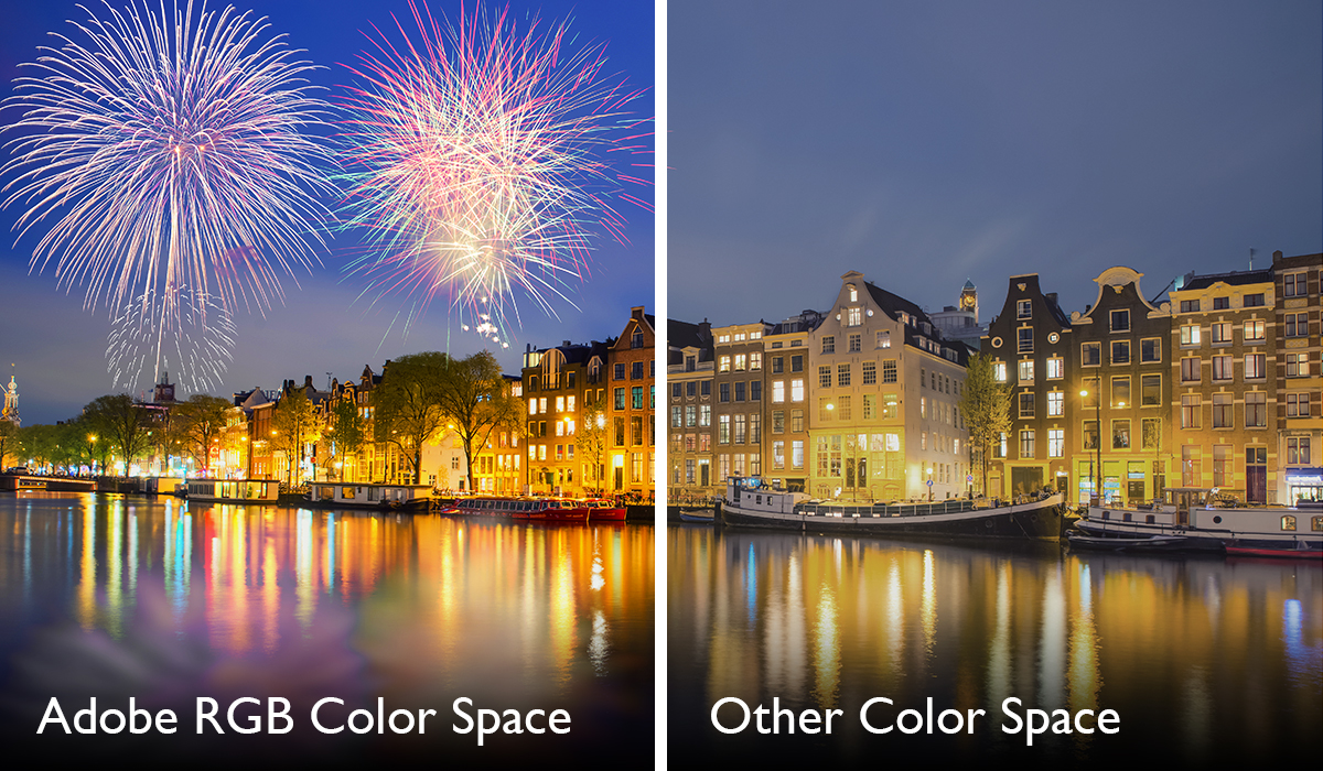 comparison between Adobe RGB colour space and others
