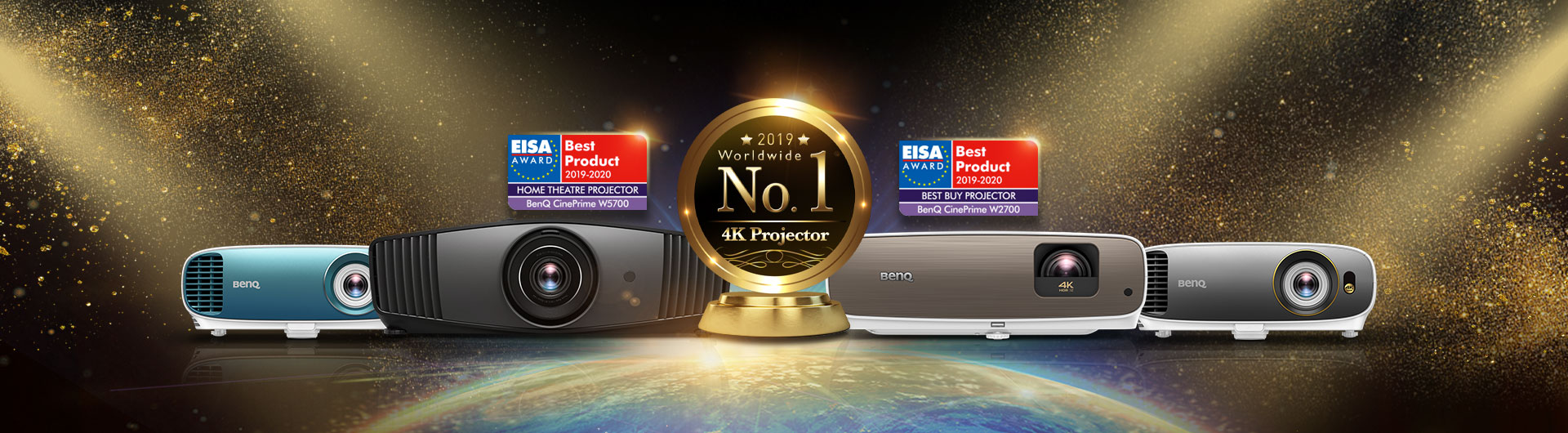 Internationally renowned EISA Awards go to BenQ's W2700 and
