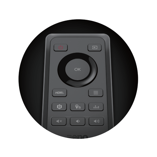 control from anywhere in your room by remote control