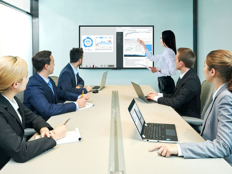 BenQ DuoBoard is an interactive board designed for online collaboration, extended collaboration, and video conferences.
