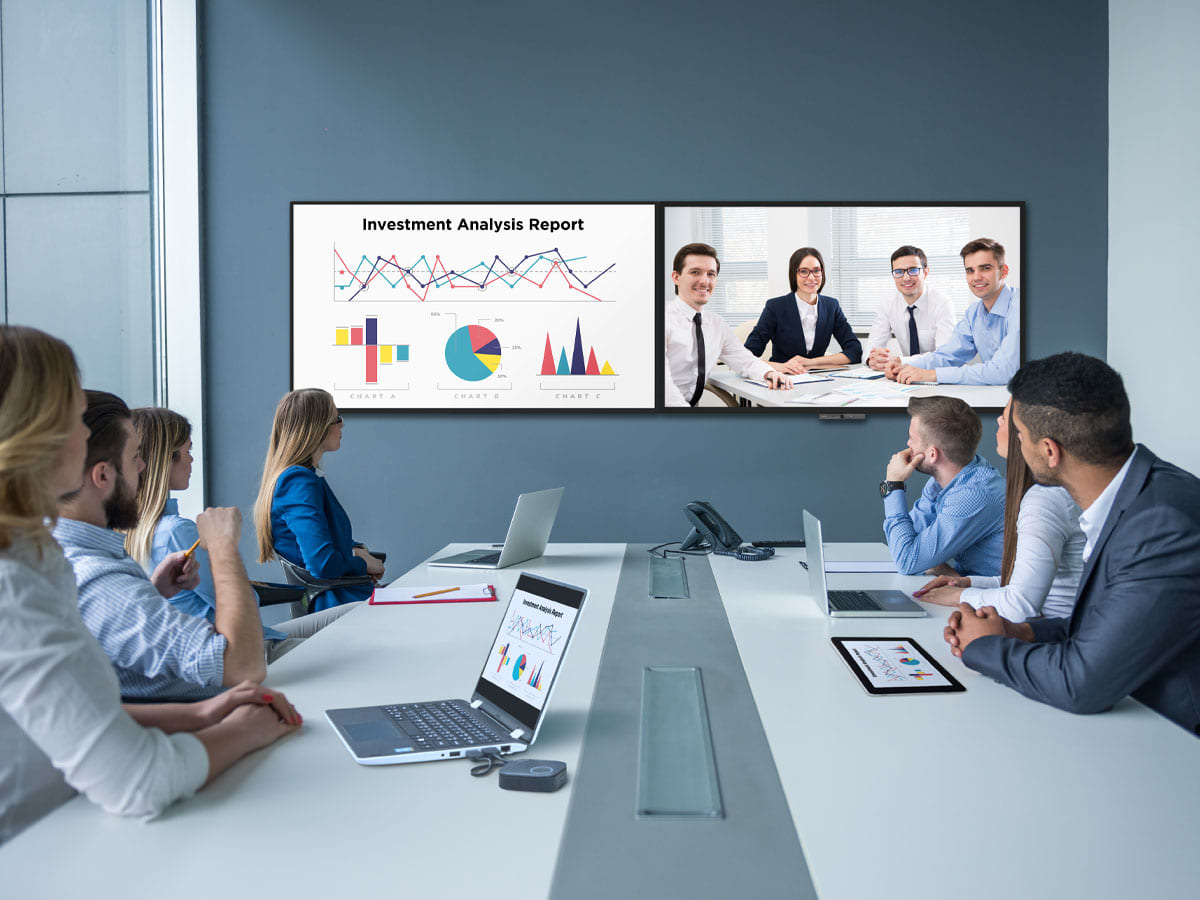 BenQ corporate display solutions accomplish more with easy video conferencing.