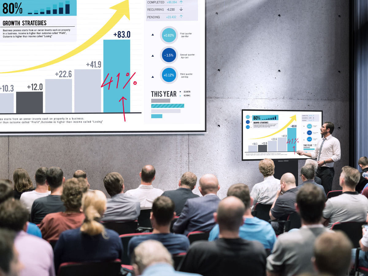 BenQ corporate display solutions enable interactive trainings for large-sized training rooms.