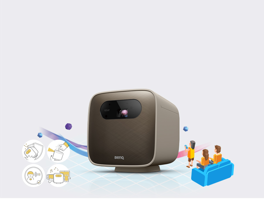 BenQ portable mini projector GS2 is best choice for family entertainment