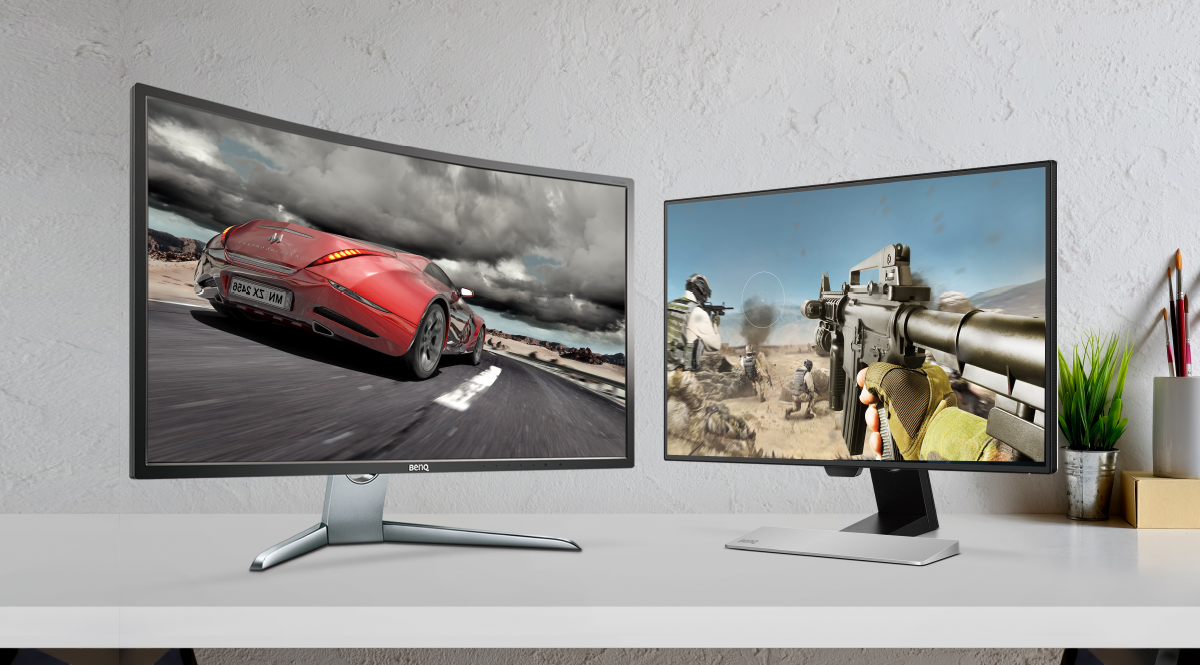 Curved vs. flat monitor for excellent gaming experience with BenQ curved gaming monitors