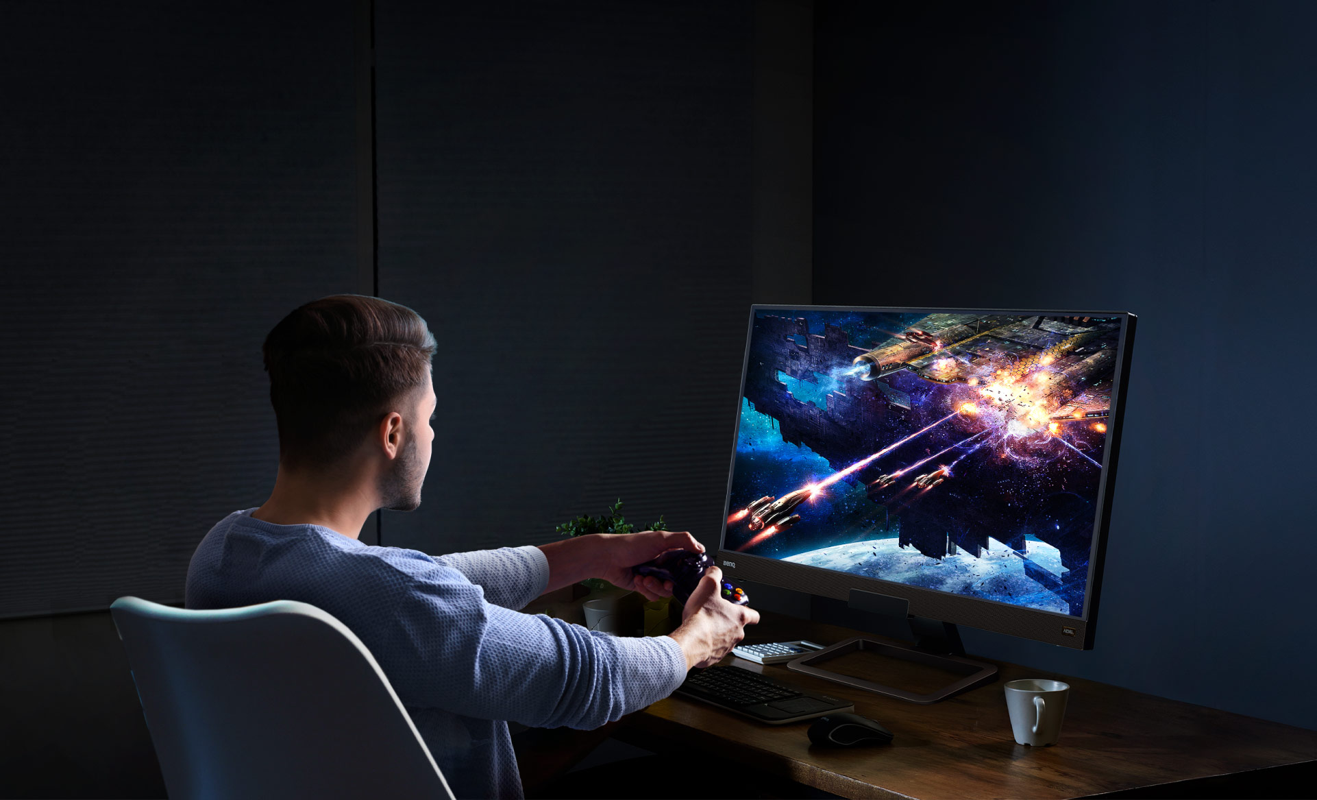 BenQ 4k gaming monitor EW3280U provides an exclusive eye-care technology which can reduce eye fatigue for user comfort and let you enjoy your entertainment time.