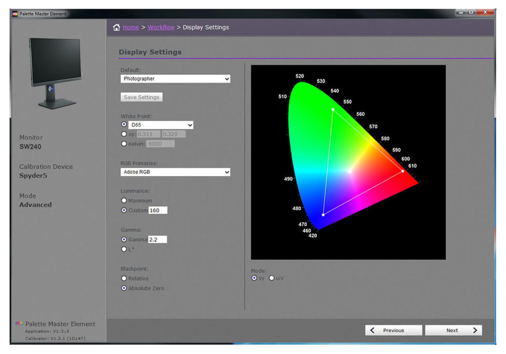 BenQ's Palette Master Element Calibration Software  can let you tune and maintain the monitor's color performance at its most optimal state.