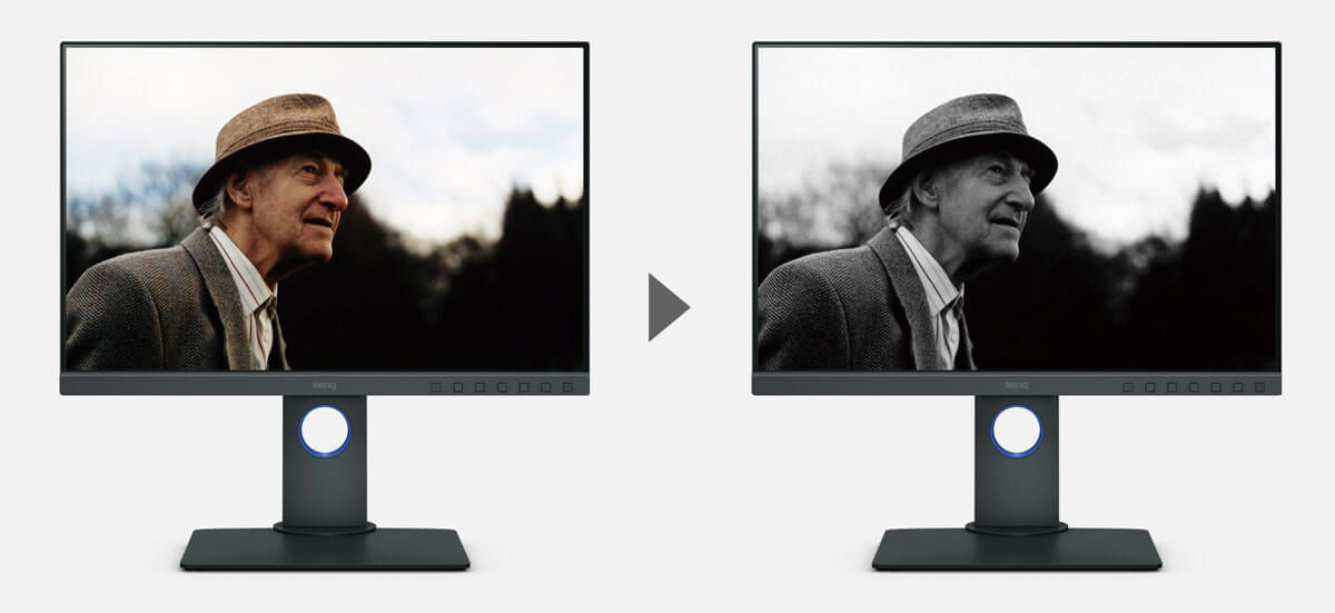 You can browse your photos in advanced black and white mode by BenQ's SW240 photography monitor.