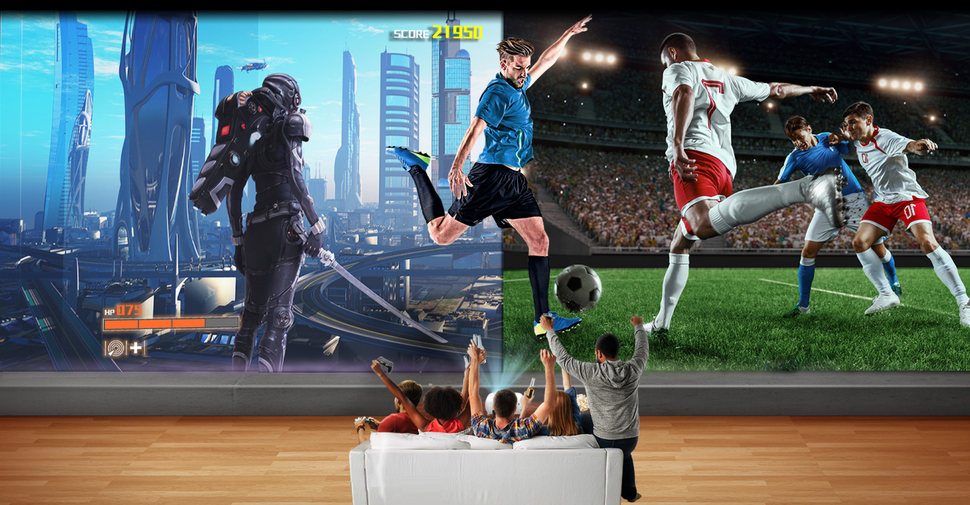 BenQ's 4K home projector for gaming and sports TK800M provides immersive sports watching experience.