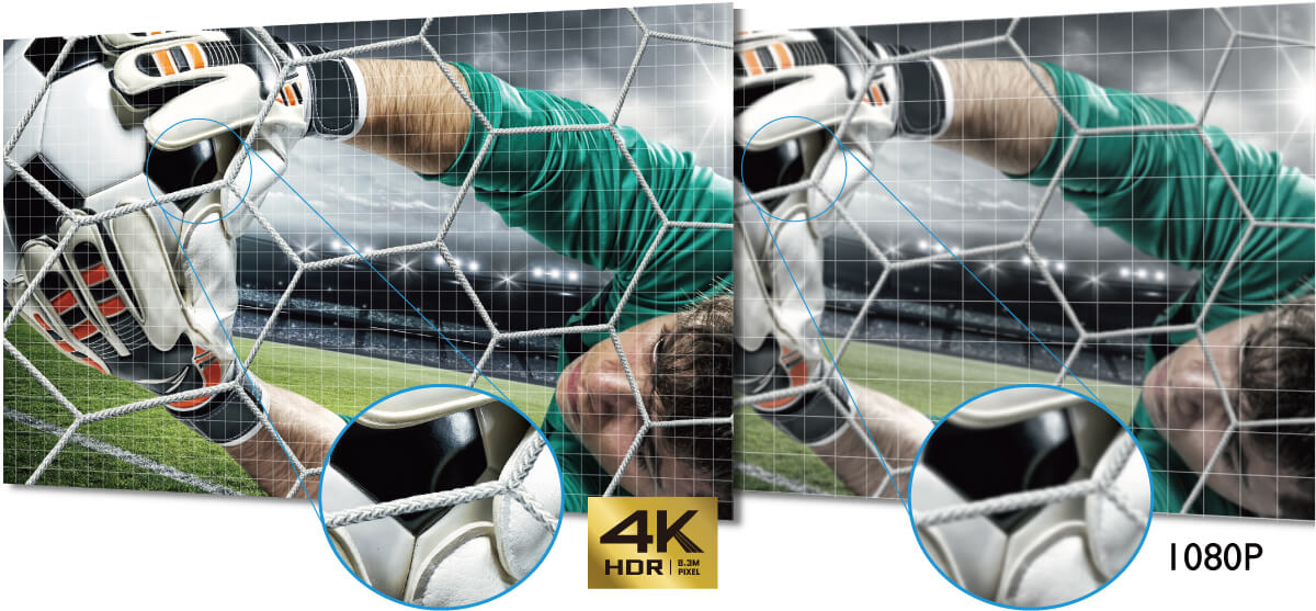 BenQ's 4k projector for sports TK800M provides you  amazing sports watching with 8.3 million distinct pixels.