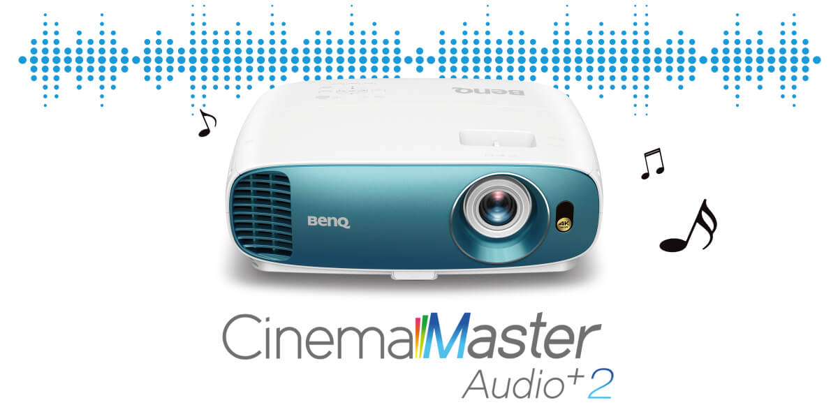 BenQ's 4k projector for sports TK800M brings high-quality audio enjoyment with cinema master audio+ 2 audio-enhancing technology.