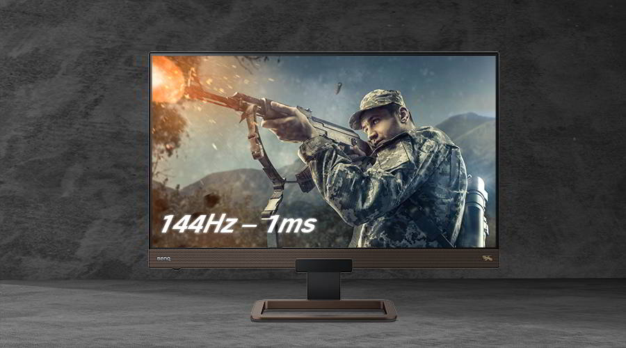 144Hz gaming monitors need to be as close to 1ms response as possible – no question.