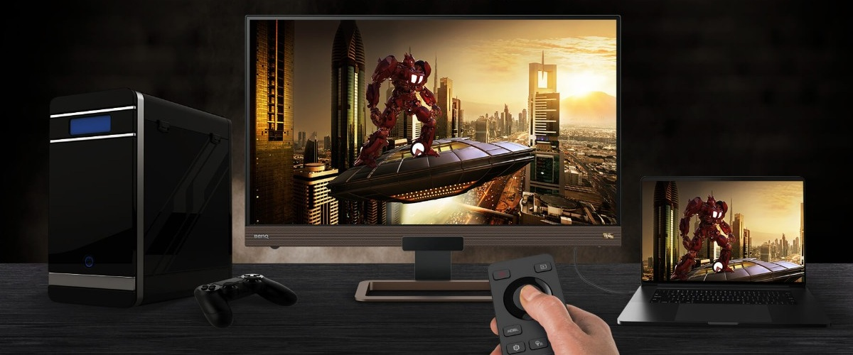 Remote controls make gaming monitors more convenient with less interruptions.