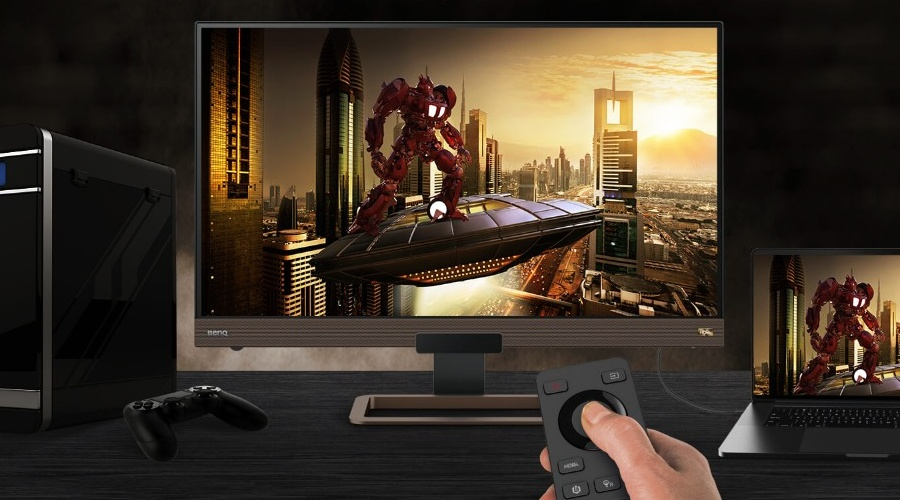 Gaming monitor with remote control is a combination for convenience and better gaming.