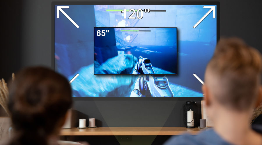 "Gaming Projectors Better for Split Screen Fun on 120"" Screens"