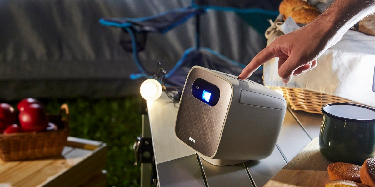 how to connect gs2 outdoor portable projector