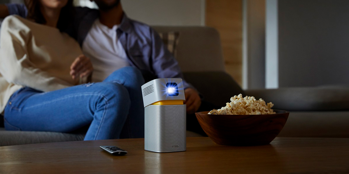every room hosts movie night with portable projectors
