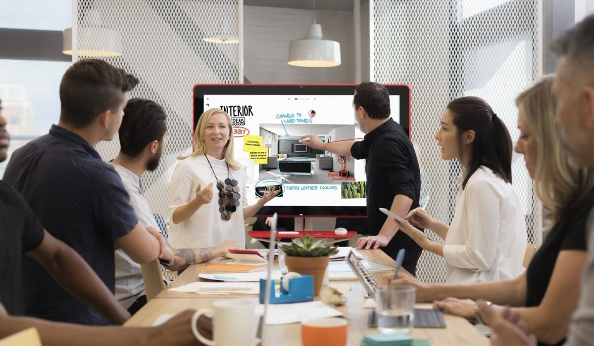 Jamboard features free employees to collaborate more easily.
