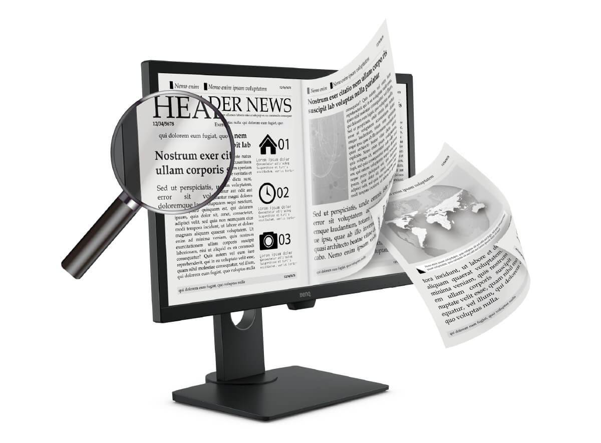 benq epaper mode clear black and white reading layout for comfortable viewing experience