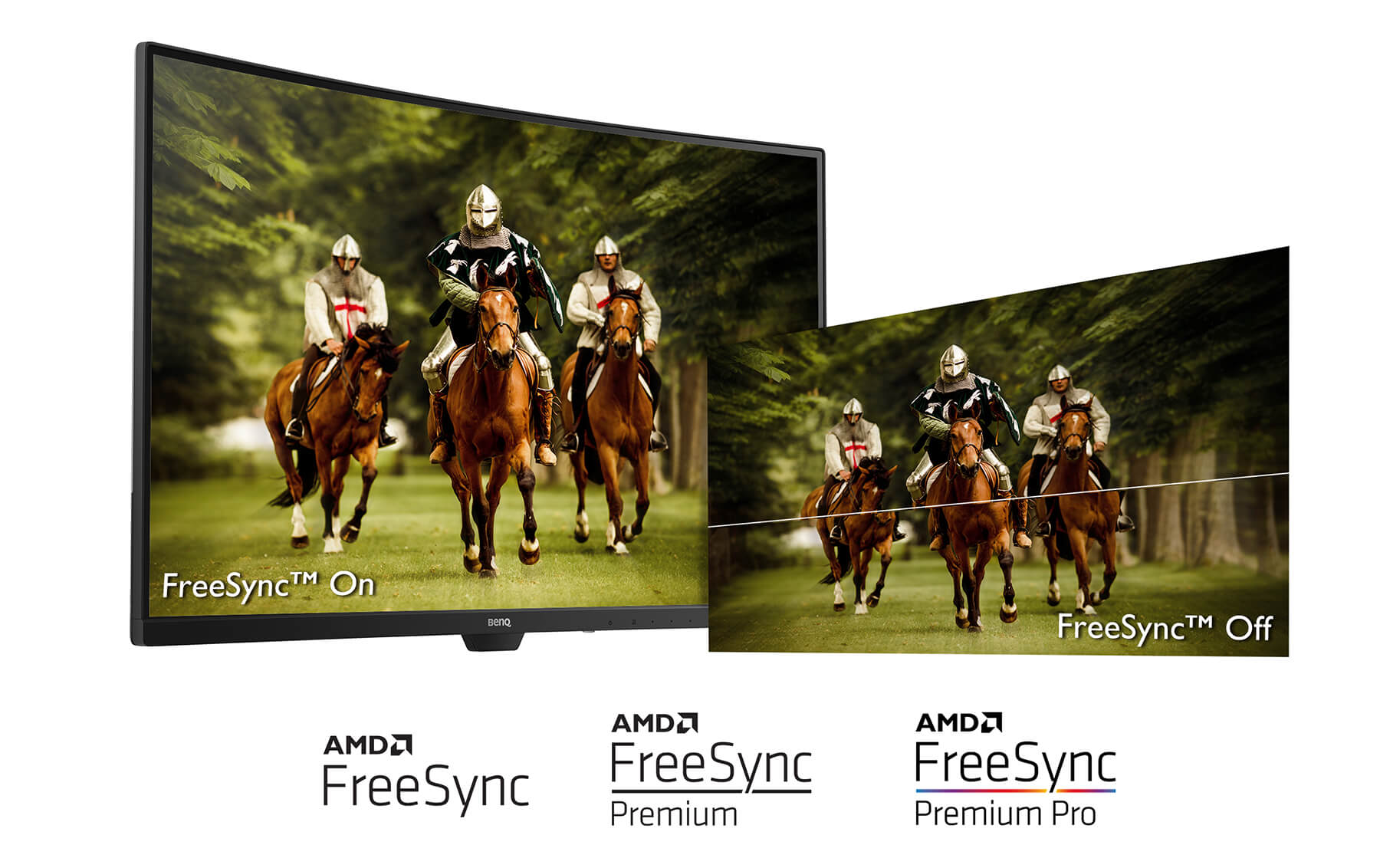 BenQ gaming monitors with FreeSync technology