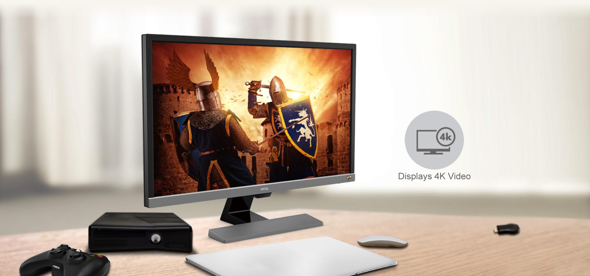 Màn hình 4K HDR dễ dàng thưởng thức giải trí trực tuyến