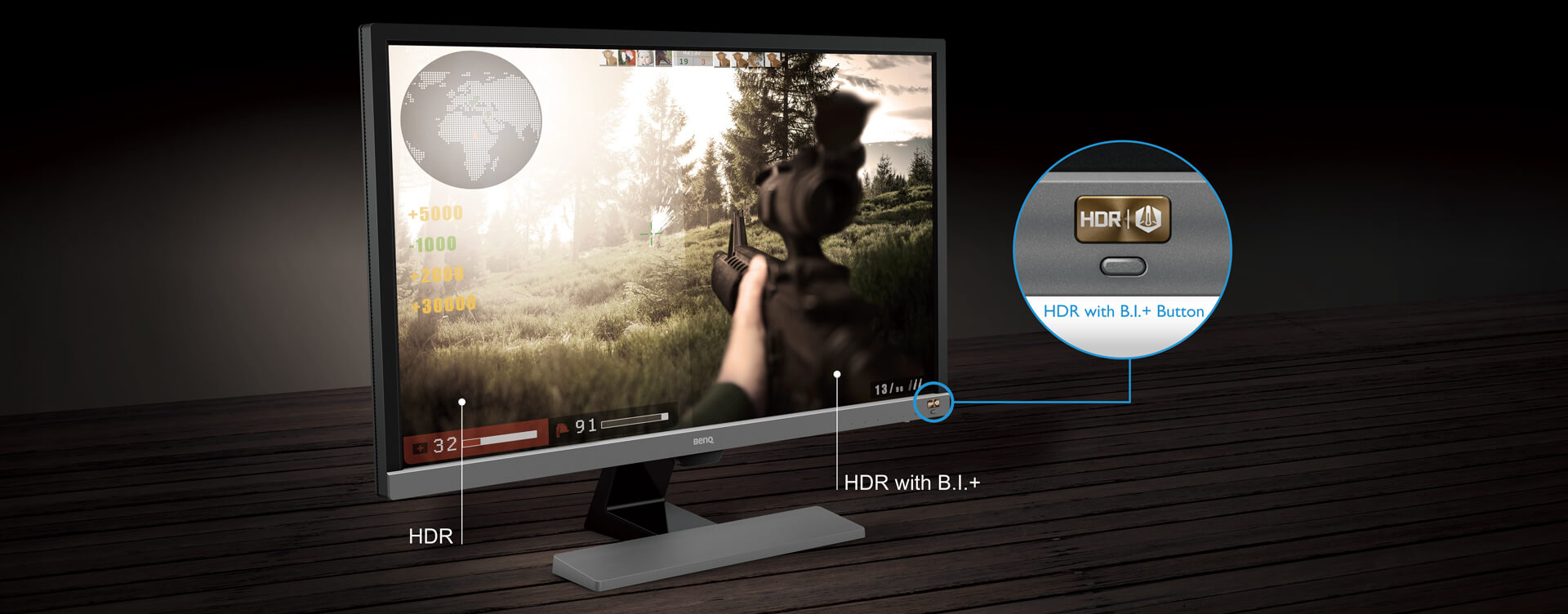 EL2870U 28 inch 4K HDR Gaming Monitor with FreeSync, 1ms GtG