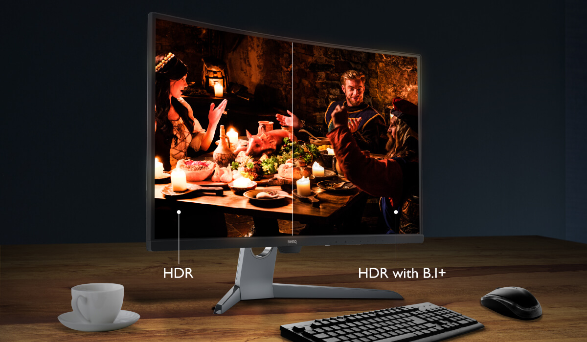HDR with B.I.+ allowing users to select different clarity based on environments