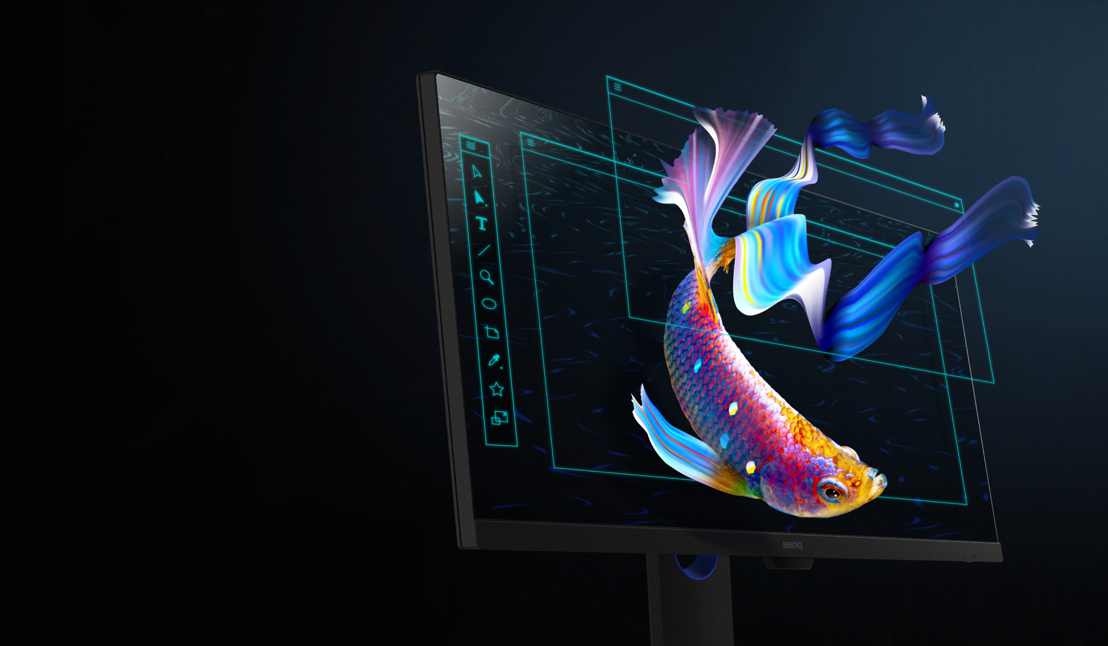 PD2705Q is a professional monitor that helps content creators like you to collect and classify all the ideas and then put them into creative art form.