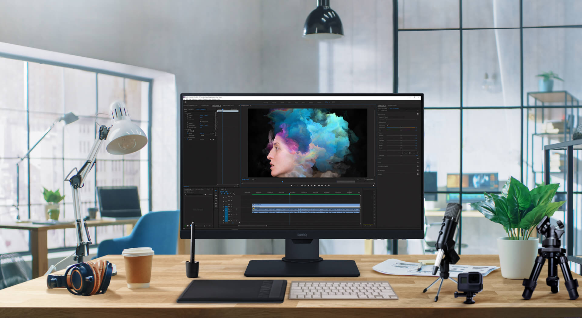 BenQ PD2705Q is HDR10-compatible for videographers to preview HDR video content during the editing process, ensuring desirable outcomes for their final output.