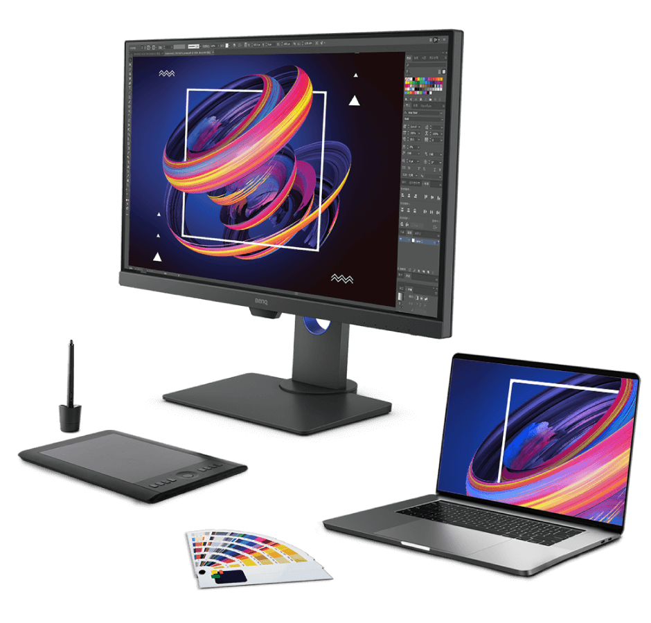 the BenQ PD2705Q designer monitor meets industry color standards to deliver truer and more accurate colors for designers to re-create any scene with excellent accuracy.