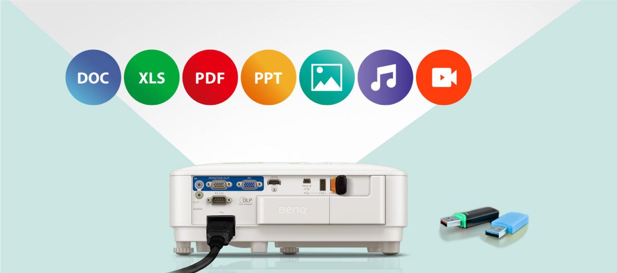 mendukung berbagai format file termasuk file JPEG, PDF, Microsoft Word, Excel, PowerPoint, dan lainnya