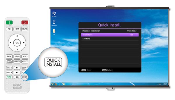 one-touch-access-mh550 BENQ MX550 PROJECTOR | XGA | 3600 LUMENS | HDMI