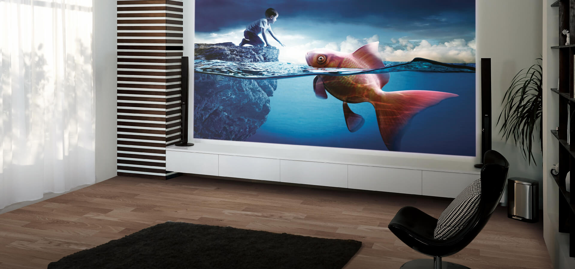 BenQ CineHome Series projector delivering large screen with vivid colour