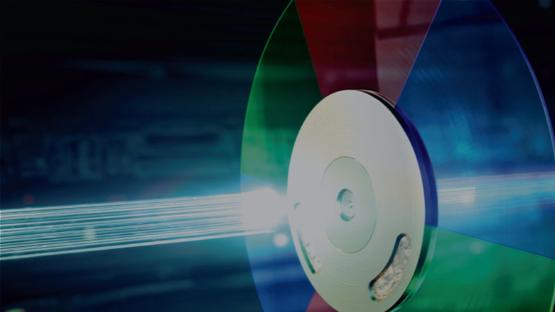 Color wheel uses precise nanometer-level references to test over 20 combinations of angle and coating