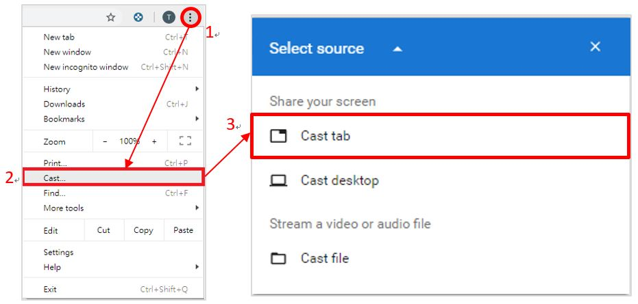 How to project Netflix videos played with Google Cast or Google