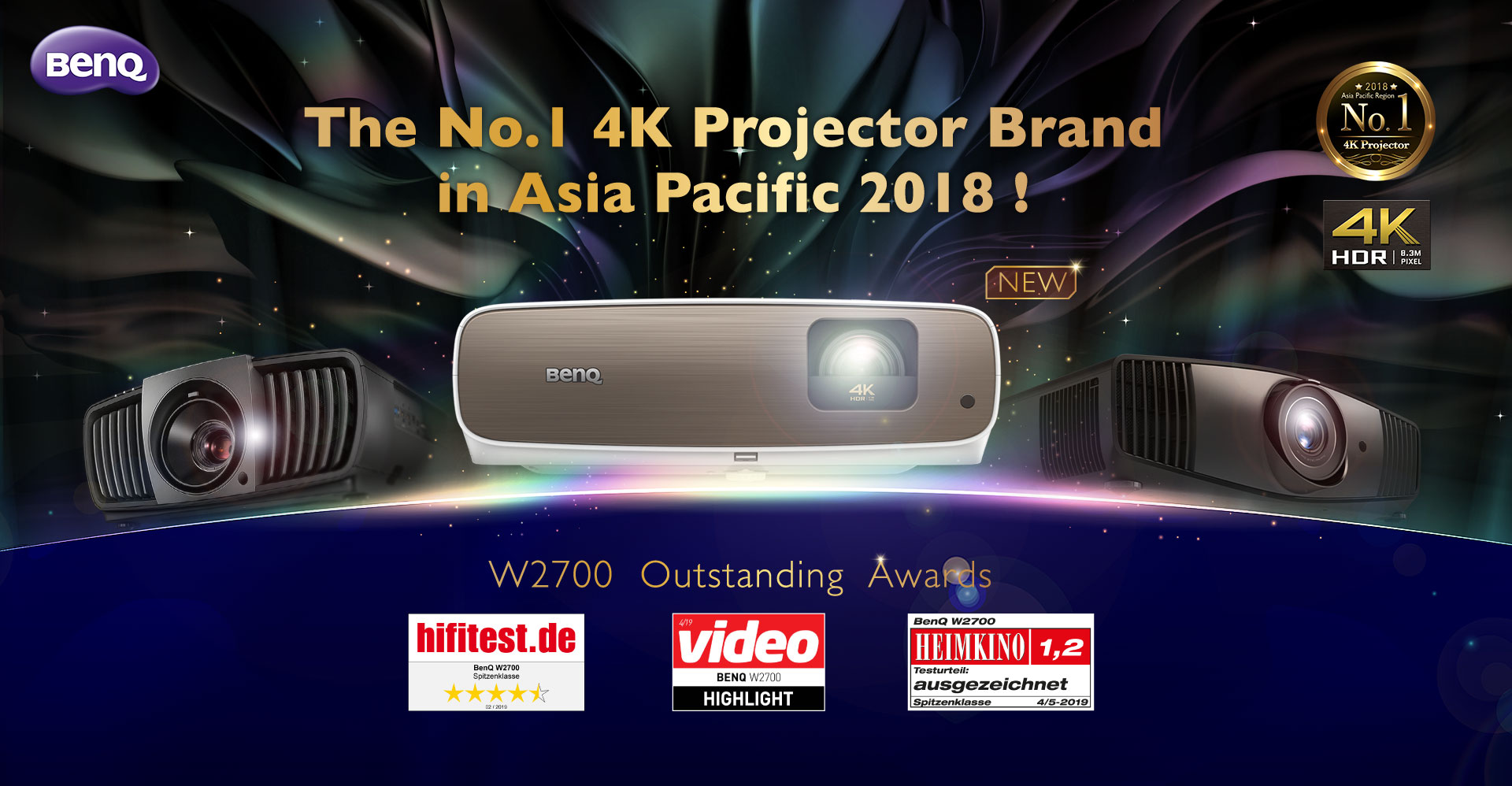 W2700 CinePrime True 4K Projector with HDR-PRO| BenQ Home Cinema