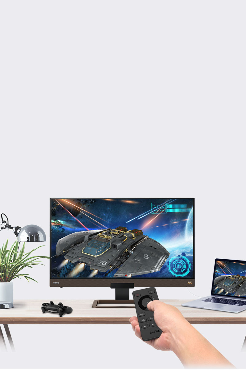 BenQ 4k gaming monitor EW3280U provides you a high-quality entertainment experience by HDRi technology and treVolo Speakers.