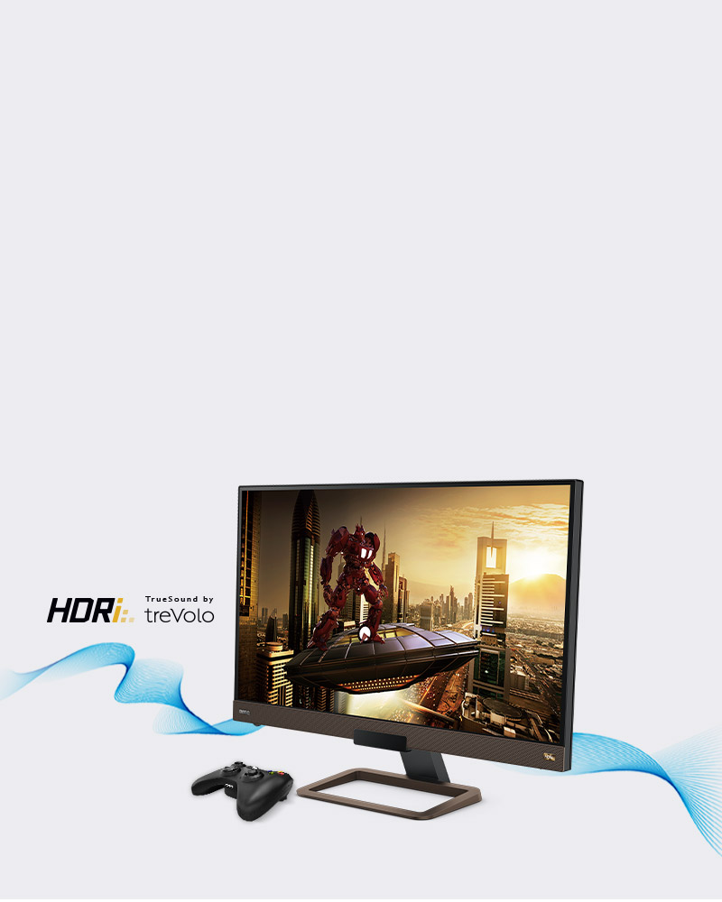 BenQ 4k gaming monitor EX2780Q let you play games with finest image and high-quality of sound.