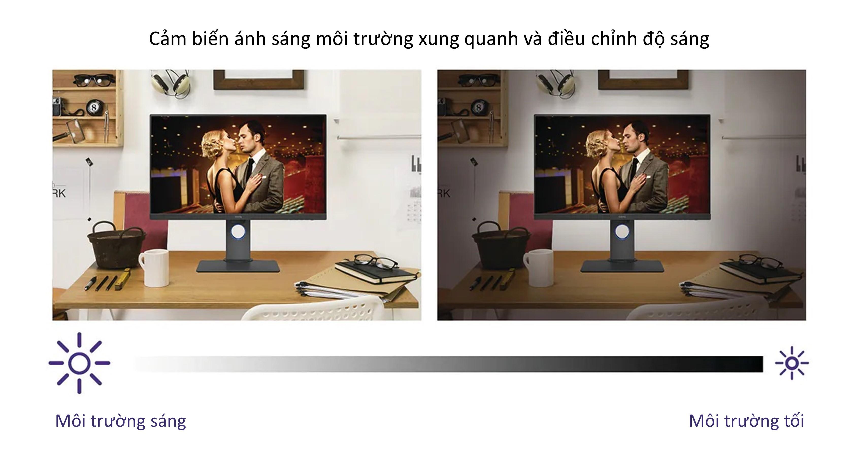Màn hình bảo vệ mắt BenQ GW series 24inch 27inch phù hợp làm việc văn phòng & học tập e-Learning