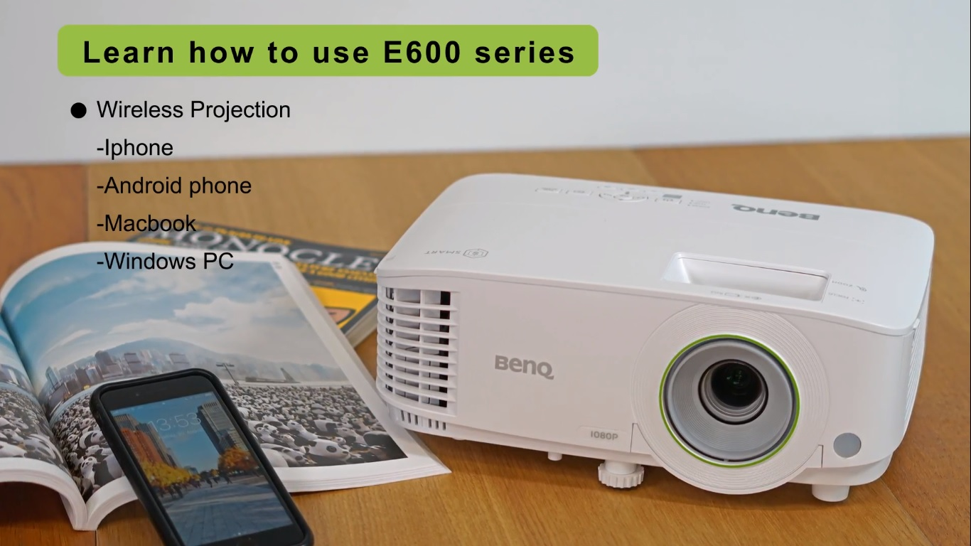 How to wirelessly project your device from BenQ Smart Projector EH600/ EW600/ EX600