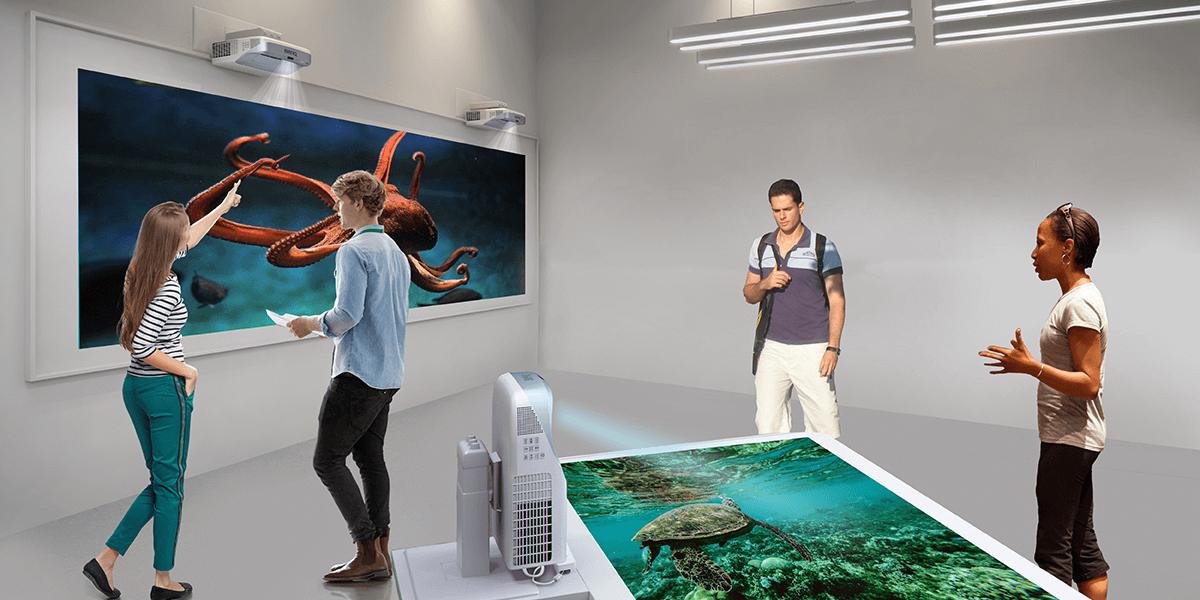 Interactive classroom projectors have 5 benefits