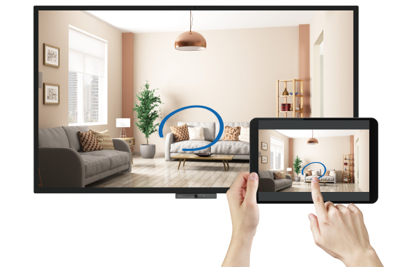 BenQ Duoboard easy wireless mirroring from mobile devices and smartphone