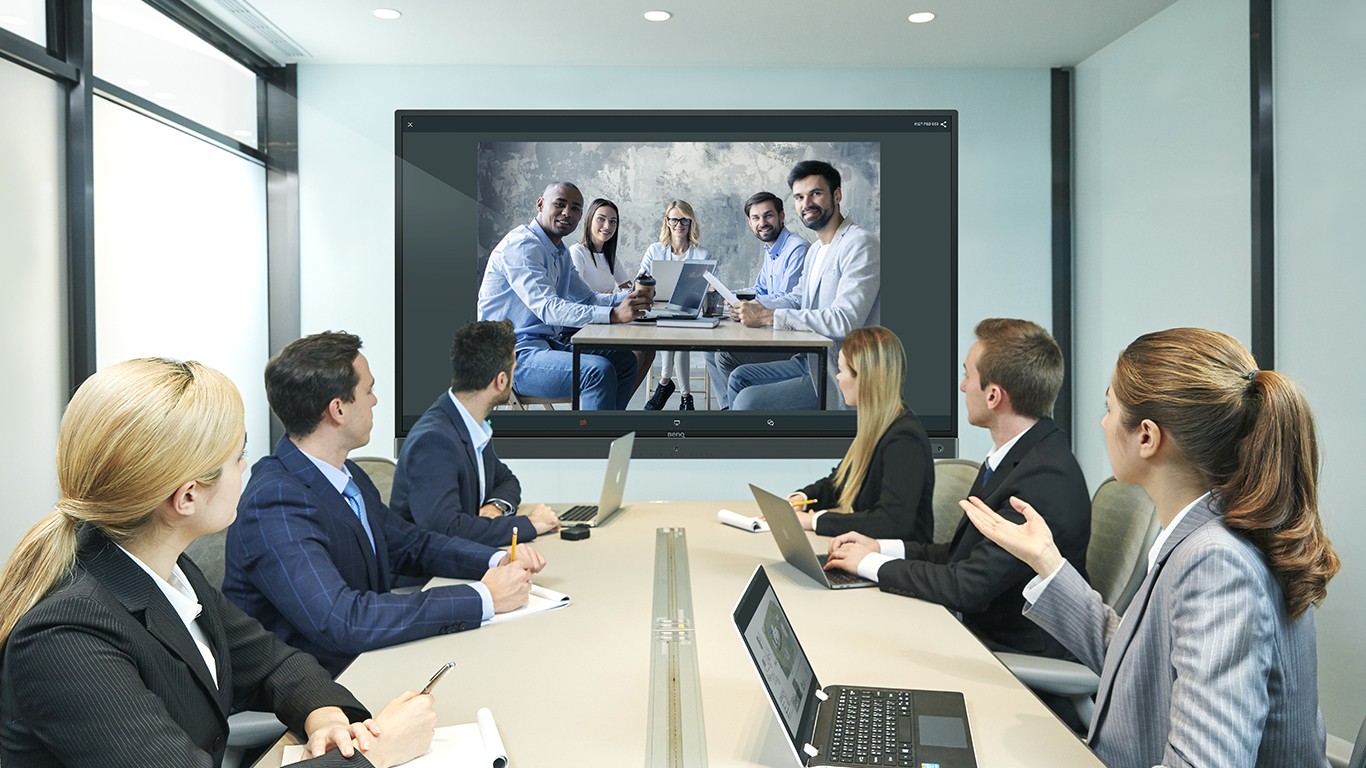 Zoom Certified Video Conference app on BenQ interactive display