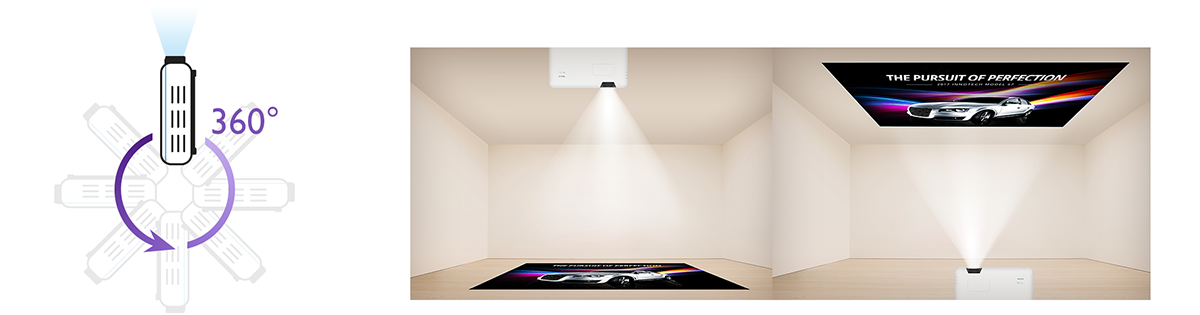 BenQ LU950 WUXGA Bluecore Laser Conference Room projector with 360 rotation projection fulfills any projection demand.